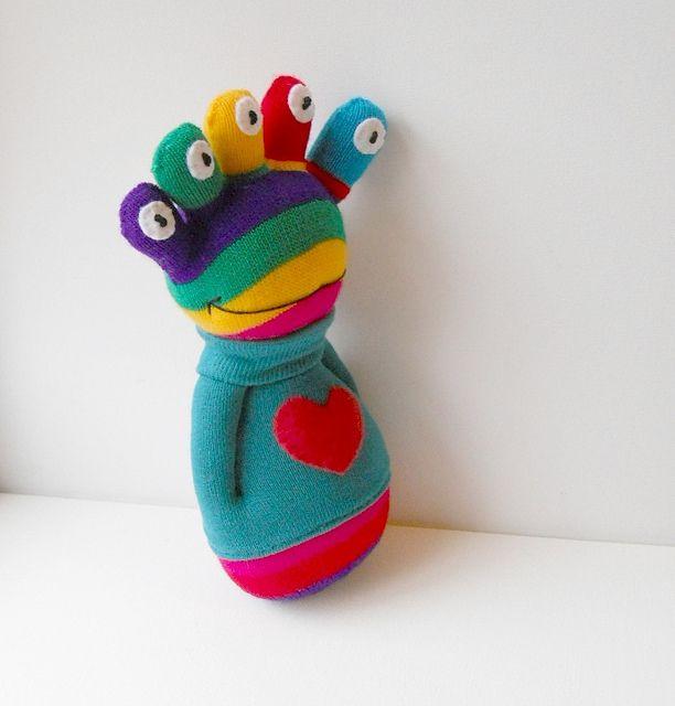 sock alien doll by Treacher Creatures, via Flickr