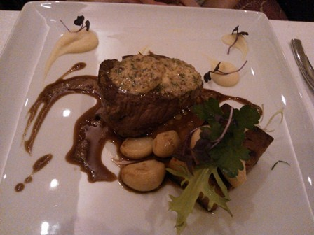 Solo Sokos Hotel Torni. Nice photo of Torni's excellent food. Thank you Heidi!  Sokos Hotel Torni @ Helsinki: ox filé with mushroom sauce (eaten by a friend)
