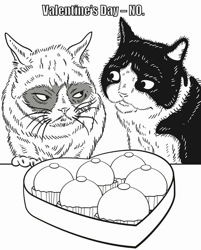 Grumpy Cat Coloring Page Lovely From Grumpy Cat Coloring Book Cat Coloring Page Cat Coloring Book Animal Coloring Books