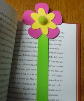 Craft foam book mark