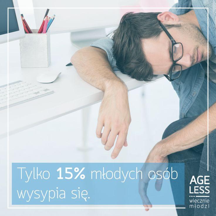 Ciężka praca, nieprawidłowa dieta i codzienne stresy – to wszystko wpływa na jakość naszego snu. Nasza rada: trzymajmy nerwy na wodzy, jedzmy zdrowo i częściej się uśmiechajmy, a będziemy sypiać lepiej :)  #ageless #wieczniemlodzi #sen #młodzi #mlodosc #bezsennosc www.ageless.pl