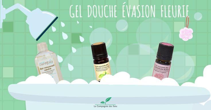 Pour une escapade fleurie sous la douche rien de tel qu'un petit gel douche naturelle aux bonnes odeurs fruitées et rosées !