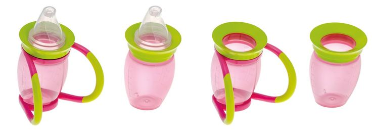 The Brother Max training cup teaches kiddies to hold cups in 4 stages - super useful, bright and fun! www.tdibrandz.com #kids #parenting #cuptraining