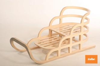 wooden sleigh by zube