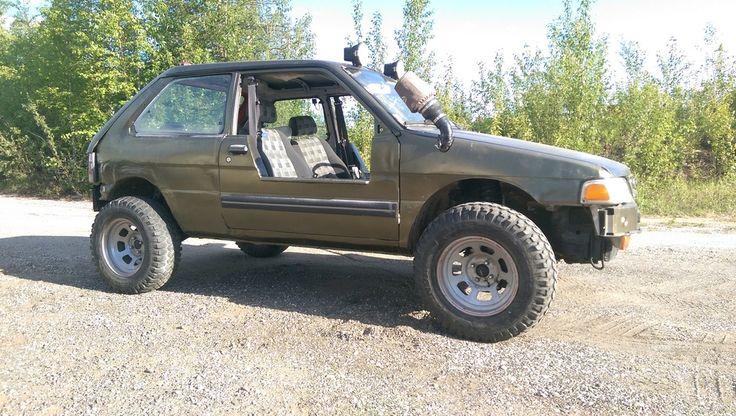 I present... my custom Subaru Justy 2 inch lift kit and 2 inch rear wheelbase…