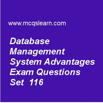 Learn quiz on database management system advantages, DBMS quiz 116 to practice. Free database management system MCQs questions and answers to learn database management system advantages MCQs with answers. Practice MCQs to test knowledge on database management system advantages, tuple relational calculus, functional dependencies, query trees notations, eer model concepts worksheets. Free database management system advantages worksheet has multiple choice quiz questions as software used...
