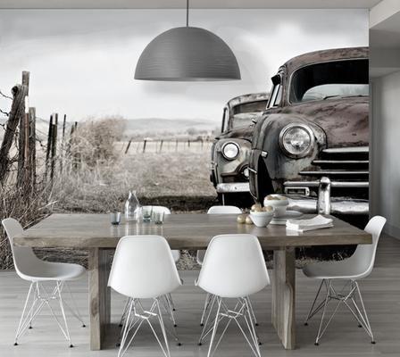 25 beste idee n over antiek behang op pinterest oude for Industrieel behang