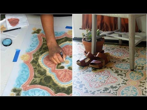 How to Stencil a Concrete Floor in 10 Easy Steps | Royal Design Studio