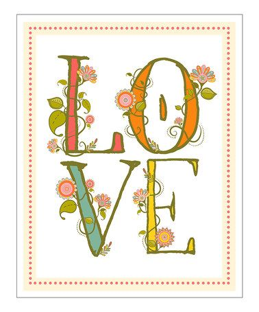 Can you let more love in today? :: 'Love' Giclée Print by Finny and Zook