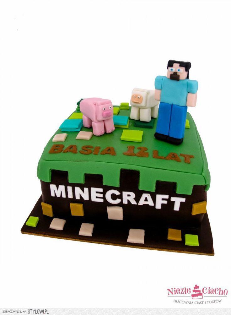Minecraft, gra komputerowa, klocki sześcienne, tort z minecraft, tort dla fana minecraft, torty dla dzieci, tort urodzinowy, tort na urodziny, Tarnów