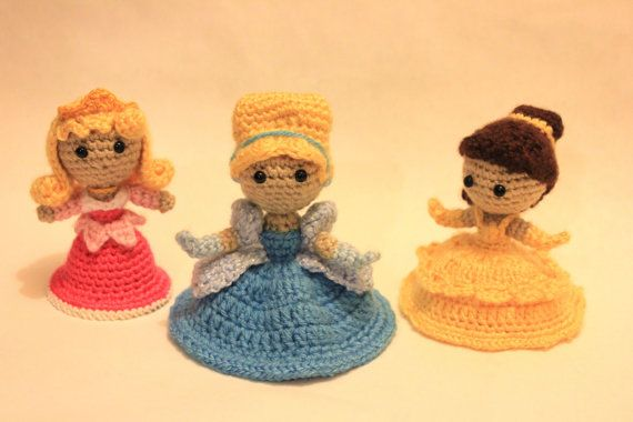 Amigurumi Disney Princess : Cinderella Princess Crochet Doll Amigurumi. USD59.95, via ...