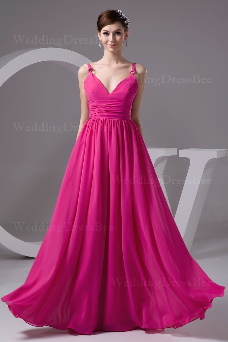 41 best wedding bridesmaid dresses pink images on pinterest gorgeous v neck floor length lady dress ombrellifo Choice Image