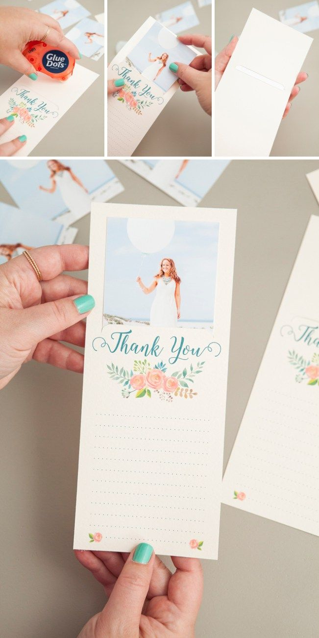 Make These Darling FREE Printable Photo Thank You Cards  Our