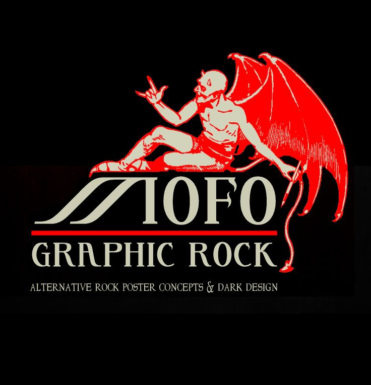 Concept & Design: MOFO Graphic Rock. Registered logo for 'MOFO Graphic Rock'.