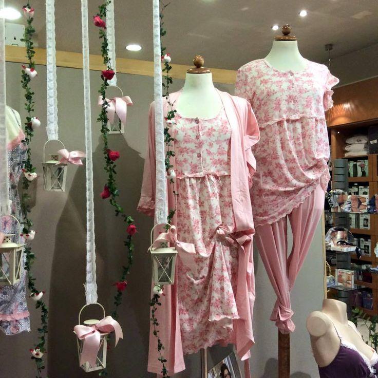 Shopwindow inspired by Spring and Vamp floral nightwear made by «Griza» lingerie boutique at 203, Vasileos Kostantinou street Koropi, Athens Greece! #vampfashion #shopwindow