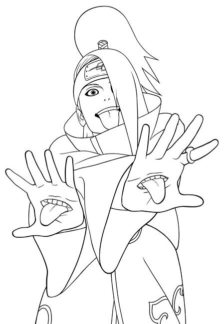 naruto coloring pages akatsuki