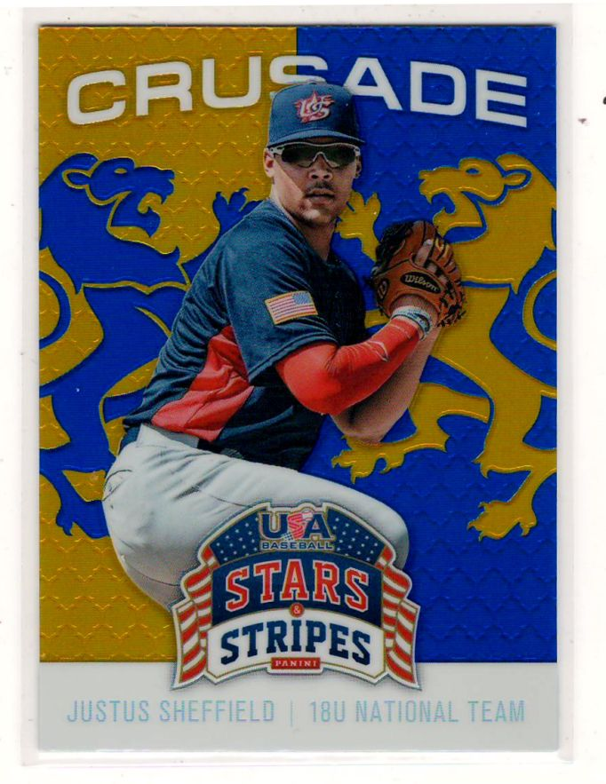Sports Cards Baseball – 2015 Panini Stars & Stripes (Crusade) Justus Sheffield – Free Shipping