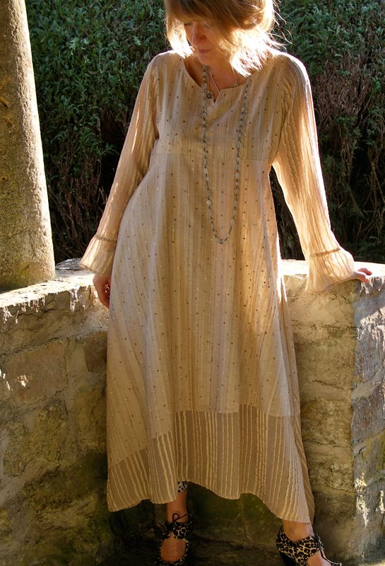 Asymmetrical Panel dress in Tussah silk, also available in linen. Terrymacey.com