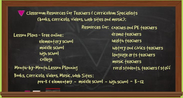 Resources for Teachers and Curriculum Specialists- Safe Schools Coalition