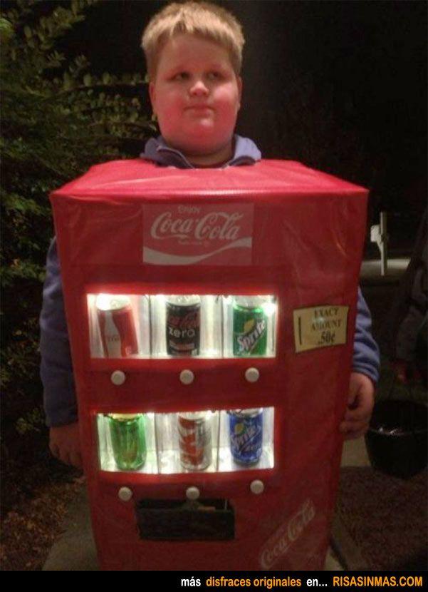 Disfraces originales: Máquina de refrescos.