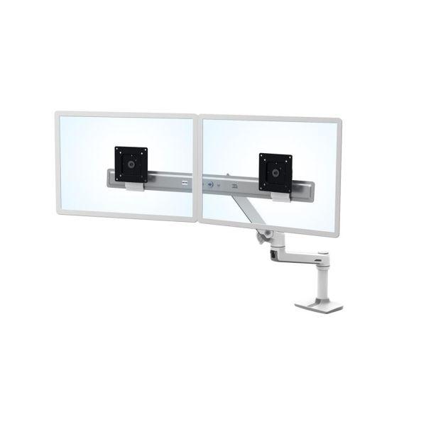 """Ergotron LX Desk Dual Direct Arm - Monteringspakke (håndtag, drejelig arm, klemme til montering på skrivebord, pakning til gennemføring, 2 pivots, monterings-hardware, hængsel, forlængerdel) for 2 LCD displays - hvid - skærmstørrelse: op til 32""""...   Computersalg.dk : Alt inden for bærbare, computere, tablets, ipad, grafikkort, servere, kamera, gopro, gps, print, iphone. Altid de rigtige priser!"""