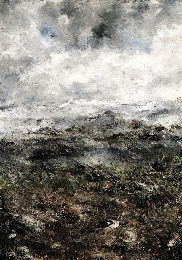 August Strindberg (Swedish, 1849 - 1912) ,Alpine Landscape I – (Alplandskap I)