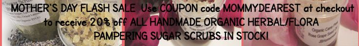 Organic Sugar Scrubs make a perfect #pampering spa gift! FLASH SALE! NOW TILL MIDNIGHT 5/9/15!  20% OFF EVERY SINGLE #SUGARSCRUB in my shop! Choices include Red #Rose, Pink Rose, #Lavender, Eucalyptus, Vanilla, Pumpkin...and more! Not sure which? Message me to create a #CUSTOM scrub just for her!  Visit https://www.etsy.com/shop/JBOrganicHairRemoval to view all the wonderful varieties available!   USE #COUPONCODE MOMMYDEAREST at checkout. #mothersday #gifts #giftidea #flashsale #sale…