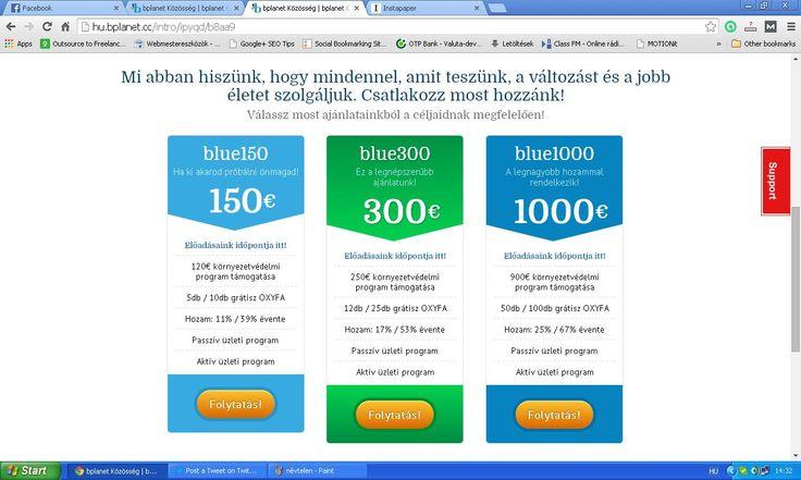 Óvd a környezeted és keress pénzt a természetvédelemmel ! 150 Euró befektetéssel 11-39 % évi hozam érhető el ! Regisztráció itt http://hu.bplanet.cc/r/r5t2i