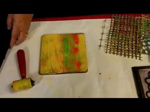 Video > gelli printing on black paper by Suzanne McNeill