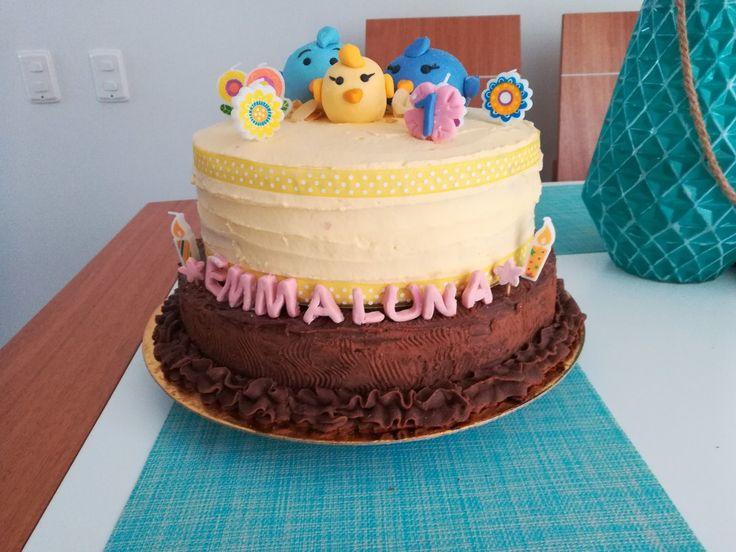Birthday cake family birds first birthday