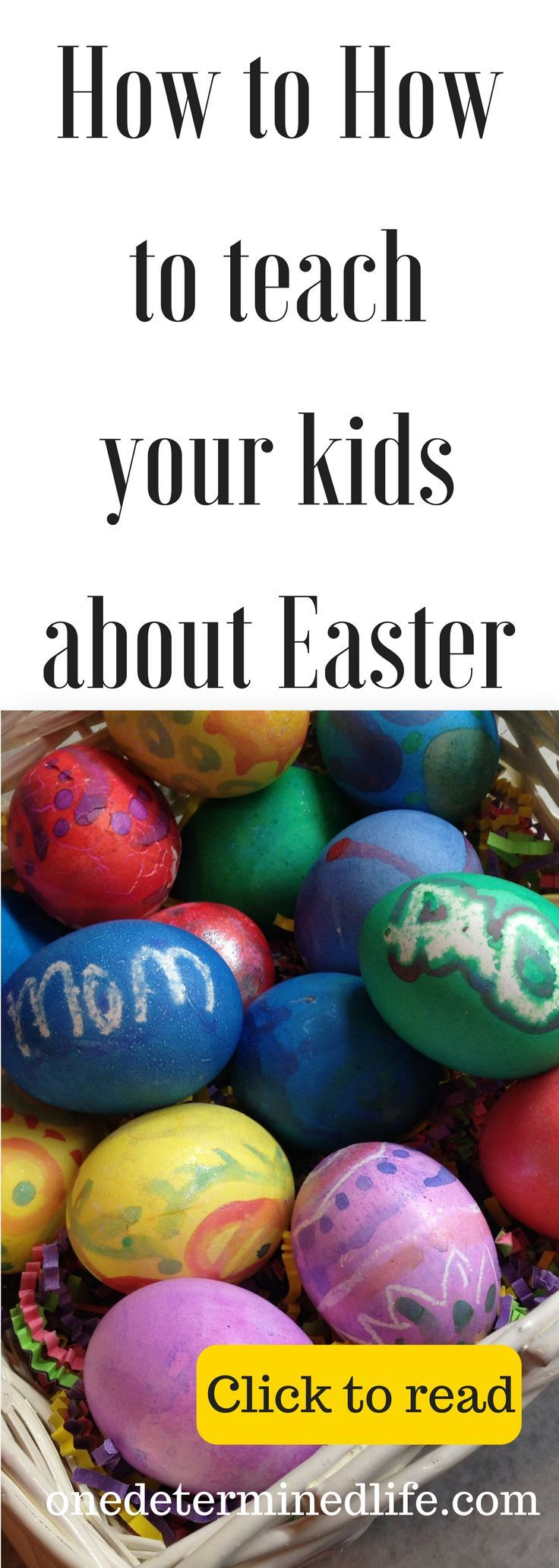 Easter is right around the corner. My goal as a parent is to have Easter be more than just bunnies and chocolate. To do that, I have chosen a few ways to teach them the real meaning of Easter. Click to read about it #easter, #easterideas, #easterchristian
