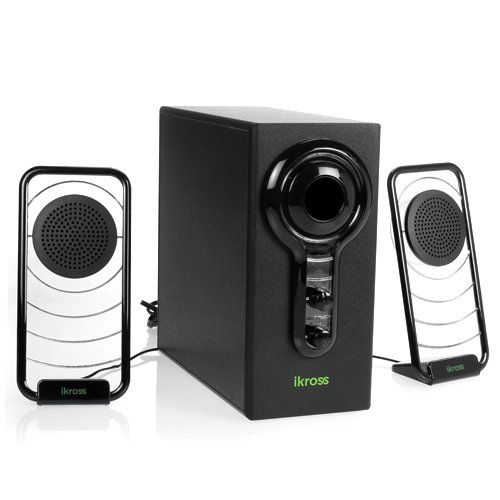 iKross 2.1 Blue LED Satellite Speaker Stereo Sound System with Subwoofer for iPhone iPad Tablets Mac Pro Air PC Home Theate & Acer Asus Dell HP Lenovo Samsung Sony Toshiba Laptop Notebook Ultra...