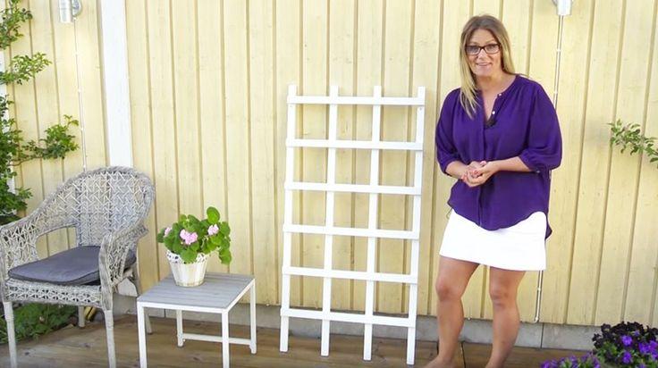 Karin Almström visar hur du bygger en spaljé.