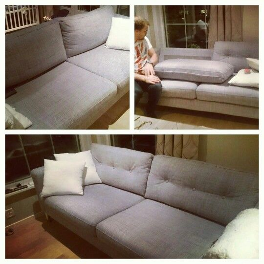 Karlstad sofa with buttons