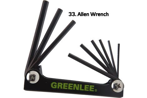 Allen Wrench or Hex Keys