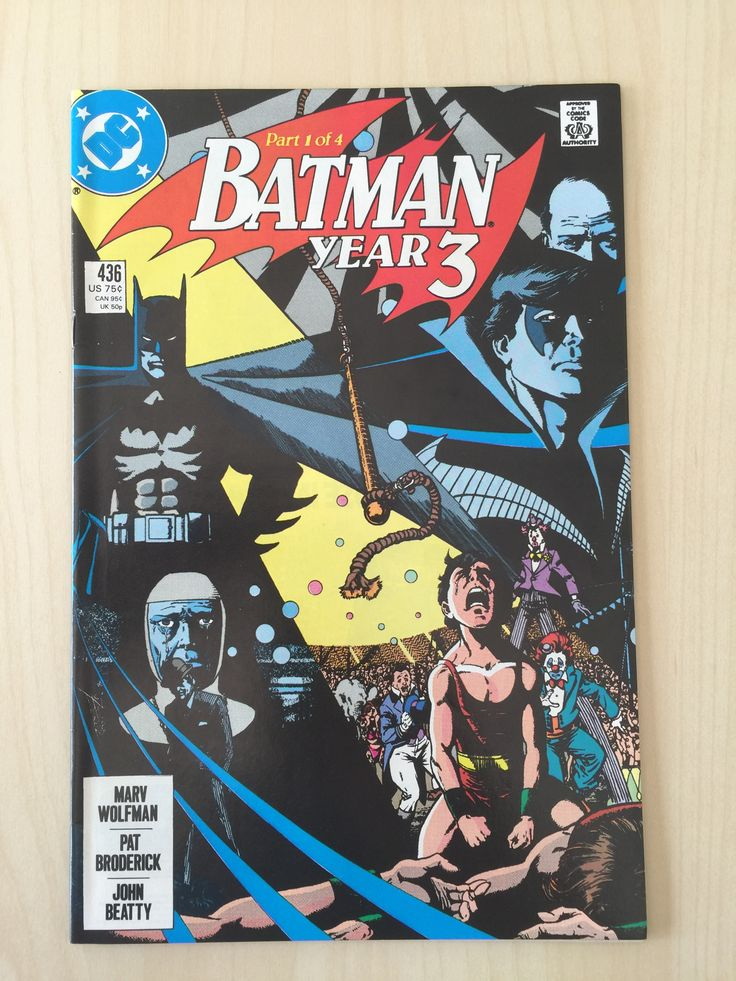 - Batman: Year 3 - Different Roads - Modern Age: August 1989 - Cover Artist: George Perez - Writer: Marv Wolfman - Inker: John Beatty - Penciler: Pat Broderick - Key Issue: First Appearance of Tim Dra