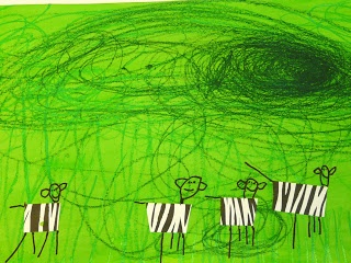 les petites têtes de lart: Un orage gronde sur la savanne
