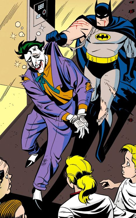 The Bat Catches the Joker in Mad Love(1994)- Bruce Timm