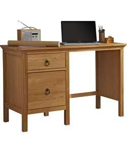 Knightsbridge Office Desk - Solid Oak and Oak Veneer.