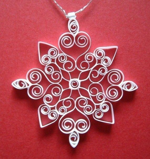 Christmas Ornaments 'Diamond Snowflake by ForeverFiligree on Etsy