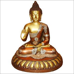 We are offering an exclusive range of Buddha Sitting on Oval Base.