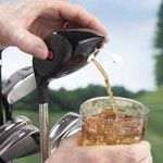 Golf Club Drink Dispenser. This be a great addition to my set here in the land of no alcohol.... Just sayin