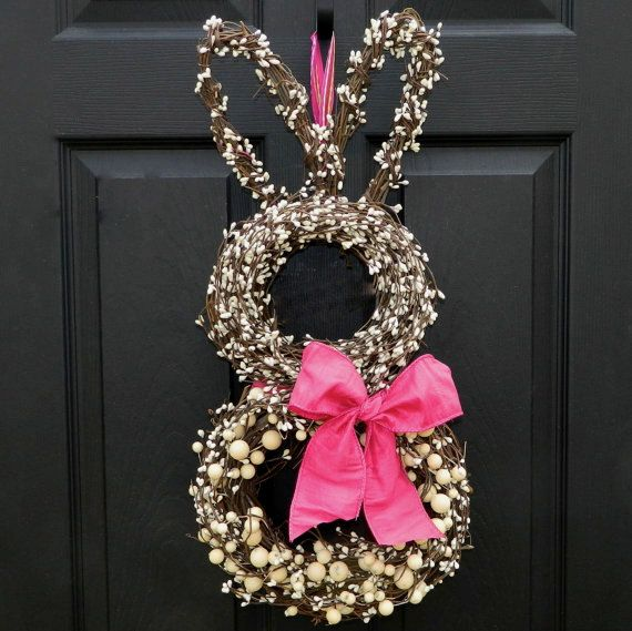 Bunny Wreath - Easter Wreath - Spring Wreath