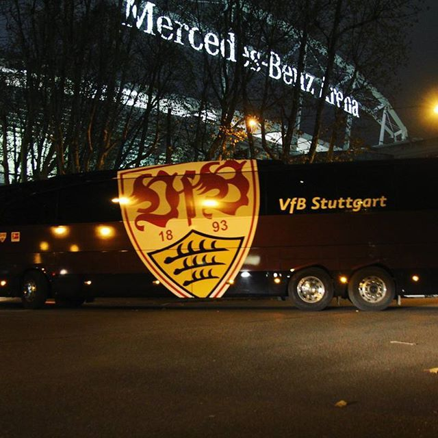 Ankunft! #VfB #VfBBVB #VfBInsta #stuttgartgehtab #MercedesBenzArena
