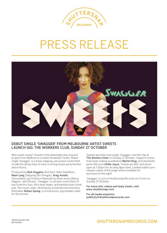 Sweets Launch - Press Release