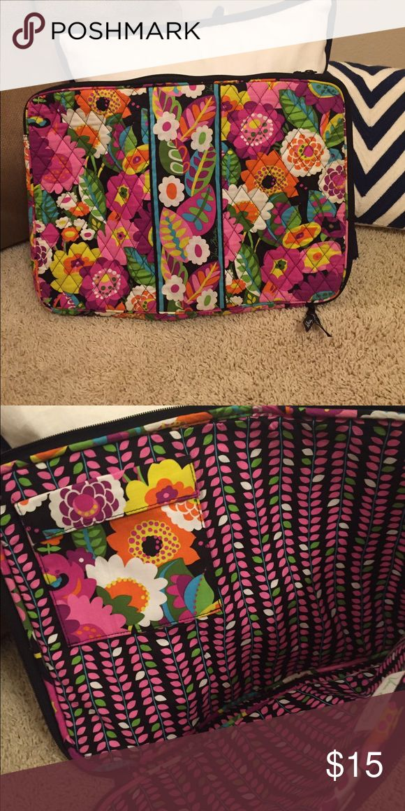 Vera Bradley large soft lap top case Large vera Bradley laptop so soft case they carried my  HP laptop for about a year until I bought my 11 inch Mac which then the case was to large smoke free home Vera Bradley Bags Laptop Bags