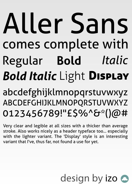 8 Excellent Fonts For Screen and Print