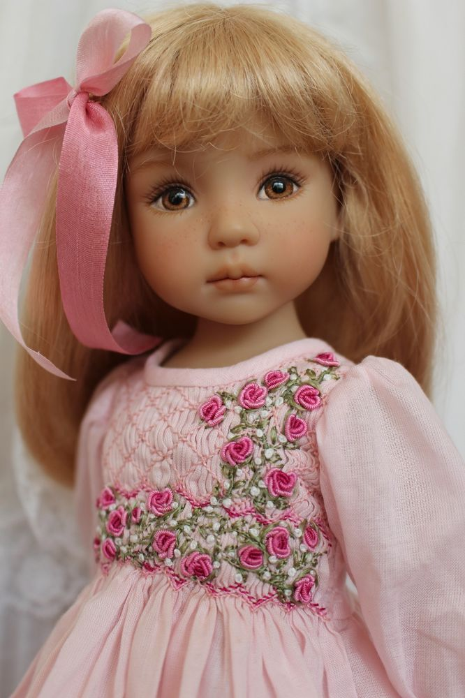 "Smocked Ensemble for 13"" Effner Little Darling Dolls by Petite Princess Designs"