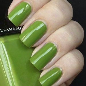 Smash is a bright grass green, glossy finish nail varnish from Illamasqua