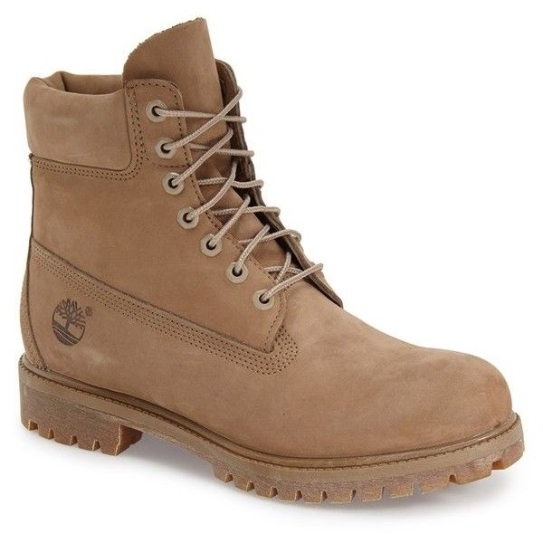 Timberland 'Six Inch Classic Boots Series - Premium' Boot ($95) ❤ liked on Polyvore featuring men's fashion, men's shoes, men's boots, men's work boots, shoes, men, boots, gopher tan monochromatic, mens leather boots and mens waterproof work boots